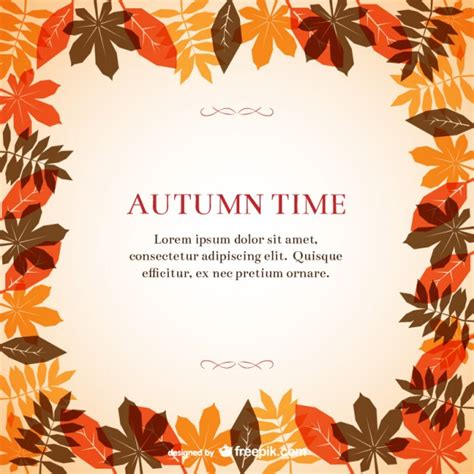 autumn frame template vector free download