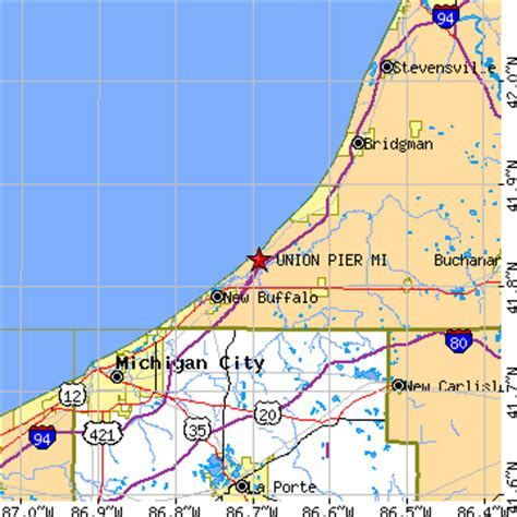 A Place Union Pier Mi Union Pier Michigan Map Michigan Map