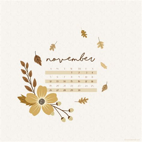november  calendar wallpaper  desktop mobile