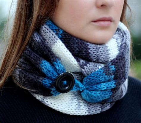 button loops knitting ombre knit scarf with button infinity scarf circle scarf