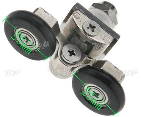 4 X 25mm Twin Wheels Bottom Bathroom Shower Door Rollers Sliding Shower Door Wheels