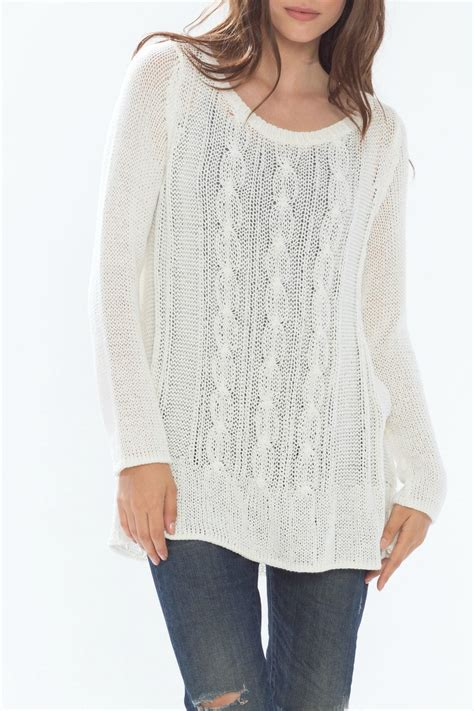 cable knit tunic wooden ships cotton cable knit tunic from new jersey by