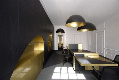 black gold office bond 007 style spaces