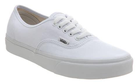 Vans Classics Autentic Fullwhite Vans Authentic True White Trainers Shoes Ebay