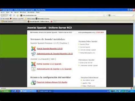 tutorial joomla spanish instalaci 243 n de moodle en el pack joomla spanish uniform
