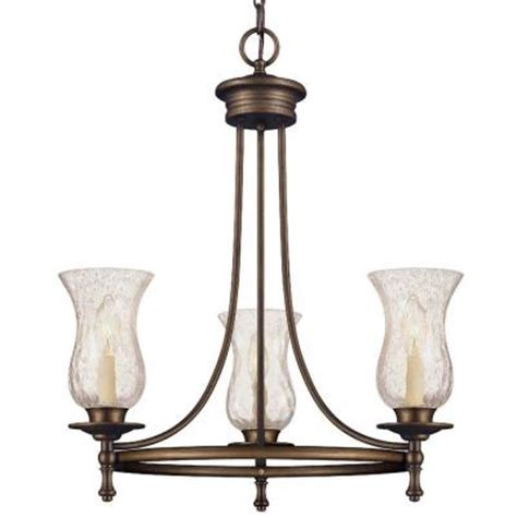 Chandelier Home Depot Null Grace 3 Light Rubbed Bronze Chandelier