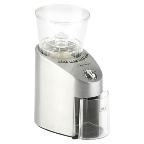 capresso infinity 565 capresso 565 05 infinity conical burr grinder stainless