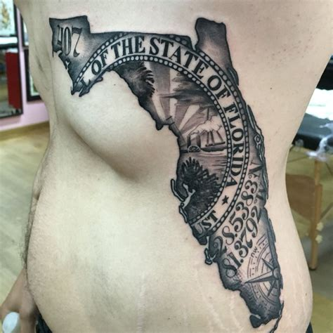 florida tattoos florida map by japo tats zj me florida
