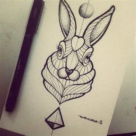 rabbit tattoo pen 342 best rabbit ideas images on rabbit