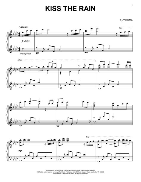 tutorial piano kiss the rain kiss the rain sheet music direct