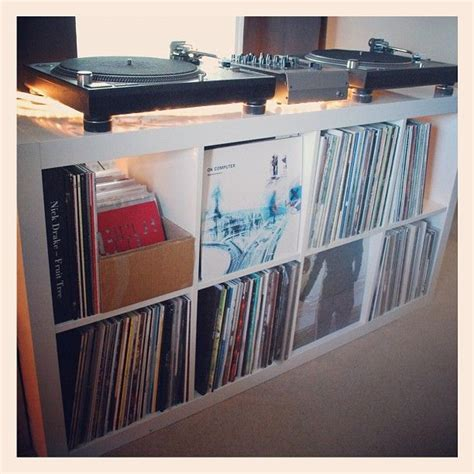 Vinyl Shelf Ikea new vinyl storage assembled and in place vinyls