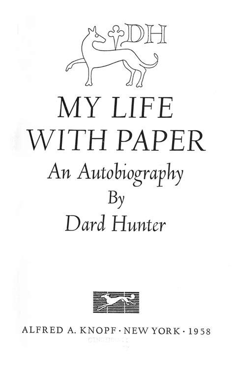 biography title william morris dard hunter
