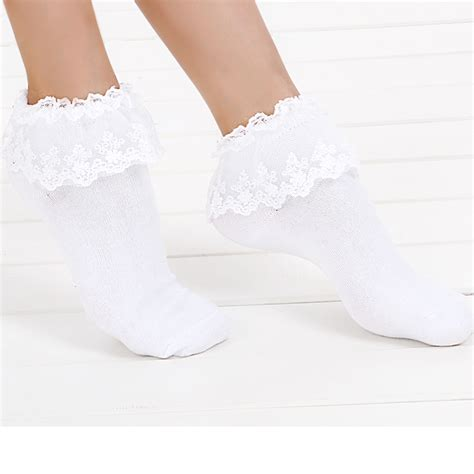 7 Sweet Looking Socks by 1 Pair 7 Colors Princess Sweet