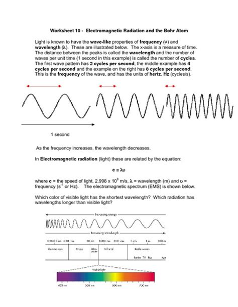 Electromagnetic Spectrum Worksheet Answers by 28 The Electromagnetic Spectrum Worksheet Waves And