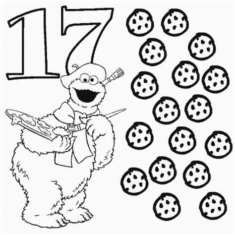 math skills coloring pages numbers coloring pages 17 coloring pages number sesame