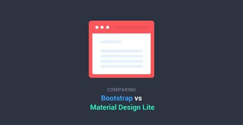 tutorial material design lite comparing bootstrap with google s material design lite