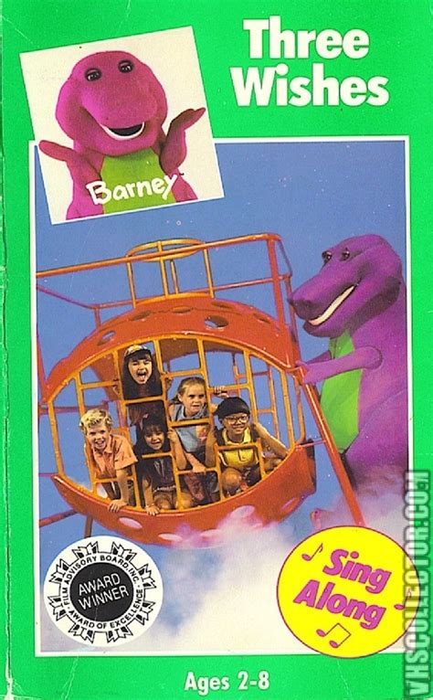 barney the backyard gang three wishes barney three wishes vhscollector com your analog
