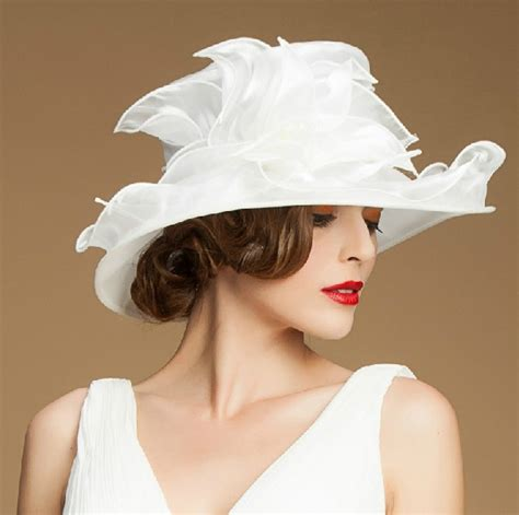 wholesale wide brim fancy sinamay black church dress hats