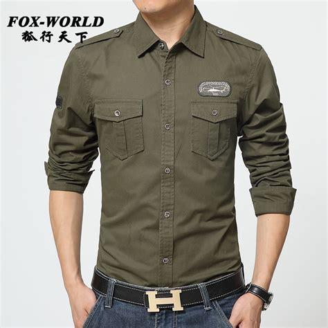 Kemeja Verde Compra Negro Camisa Militar Al Por Mayor De China