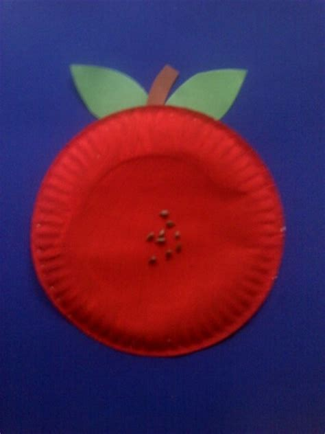 Apple Paper Craft - easy paper plate apple craft preschool crafts for