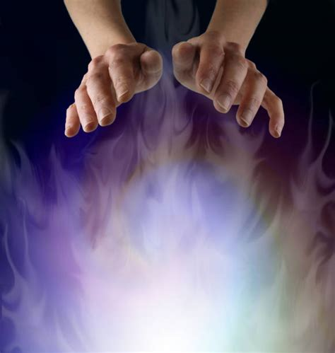 reiki healing hands stock  pictures royalty
