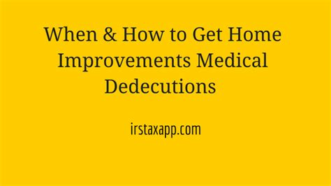 home improvement deduction revenue code