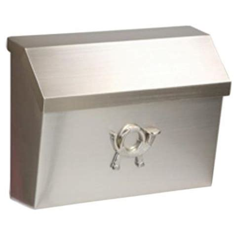 gibraltar mailboxes cambridge satin nickel decorative