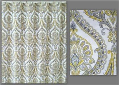 yellow paisley shower curtain cynthia rowley new york eloise white gray yellow paisley