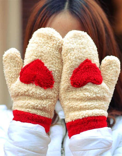Snow Knit Top Khaki Blue 30505 warm wool winter mitten glove with shape winter clothes