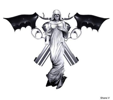 tattoo angel with guns angel guns tattoo design tattoos book 65 000 tattoos
