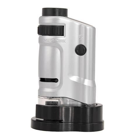 Pocket Microscope 20x 40x Magnifier Mg10081 8 T3010 4 20x 40x zoom led mini pocket microscope magnifier mg10081