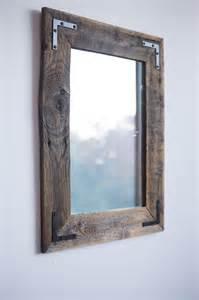 Primitive Bathroom Ideas Wood Farmhouse Mirror Can T Get Enough Pinterest