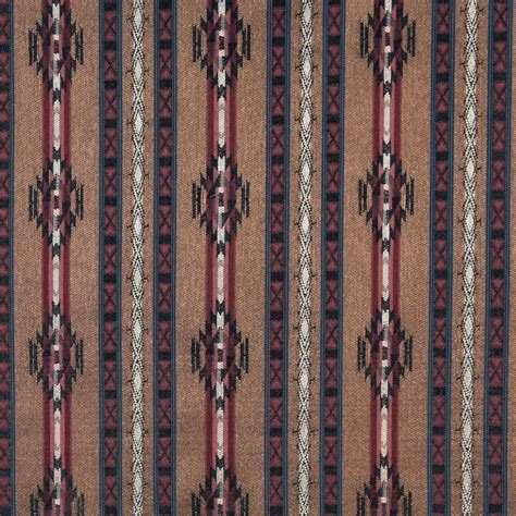 Style Upholstery Fabric by F381 Striped Southwestern Navajo Lodge Style Upholstery