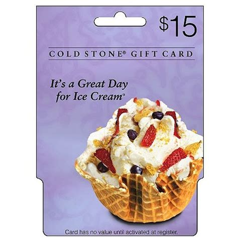 Coldstone Gift Cards - coldstone creamery 15 gift card walmart com