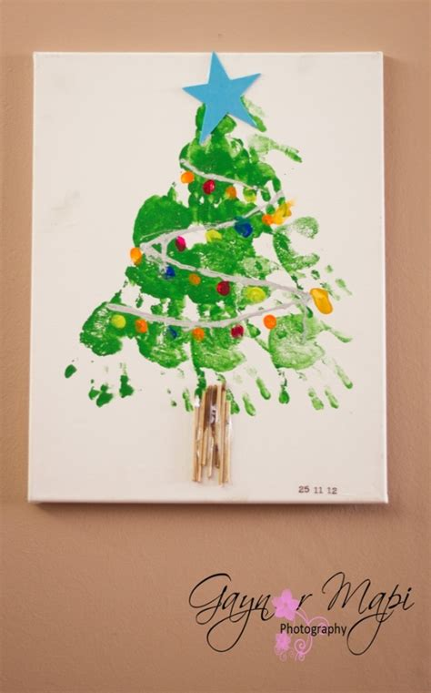handprint christmas tree holiday pinterest