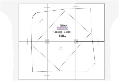 Printable Envelope Clutch Pattern | envelope clutch purse pattern www pixshark com images