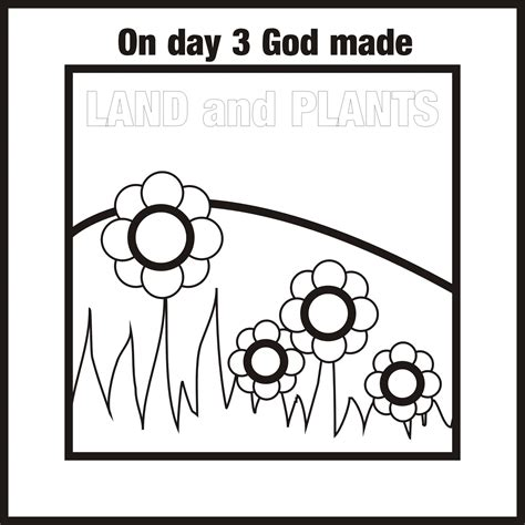 free coloring pages of 7 days of creation