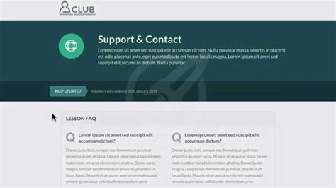Optimizepress Club Club Membership Site Support Page Template Youtube Membership Page Template