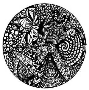 How to draw a mandala with zentangles