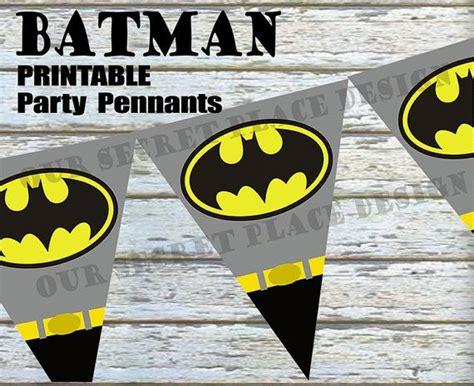printable batman birthday decorations printable batman superhero birthday party pennant banner
