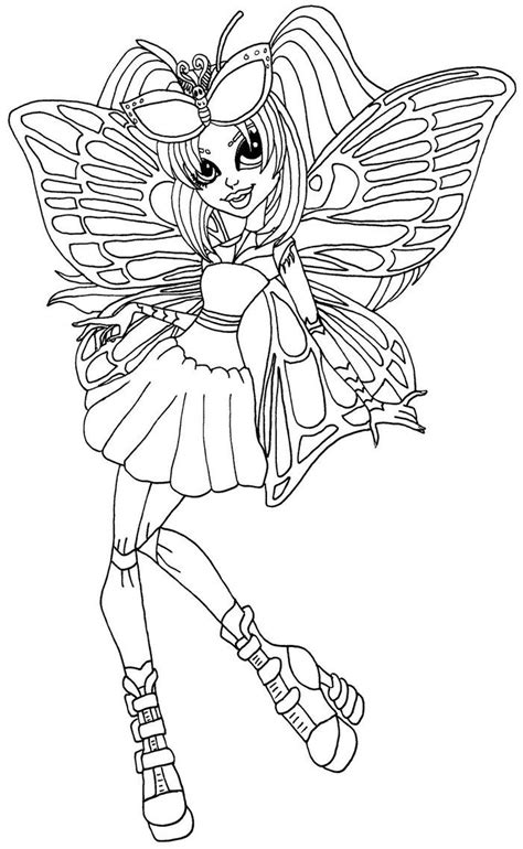 monster high new coloring pages 38 best ilustraciones elfkena images on pinterest