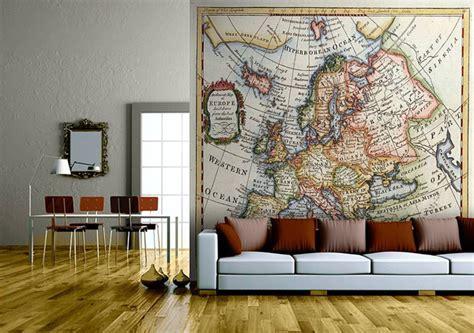 Wallpaper Interior Design by Map Wallpaper In Interior Design Interiorholic