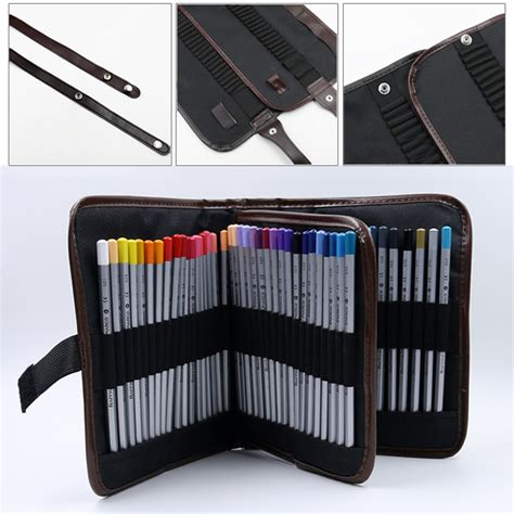 Tas Pouch 3 Layer high capacity 3 layer student pencil brush box pen pouch makeup storage bag ebay