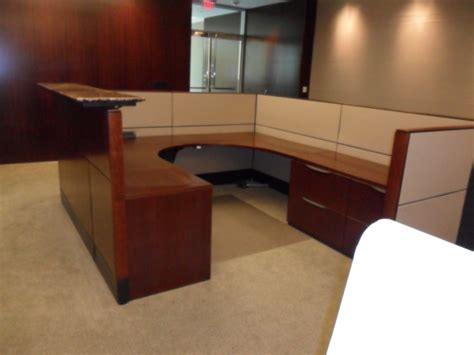 Haworth Reception Desk Haworth Reception Desk Haworth Lunstead Reception Desk 1 099 At Quality Used Used Office