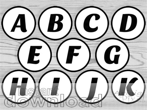 printable alphabet letters in circles black white alphabet party circles printable 2 and