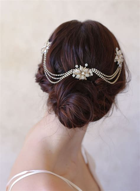 Vintage Bridal Hair Chain by 21 Ideas For A Dazzling Wedding Chic Vintage