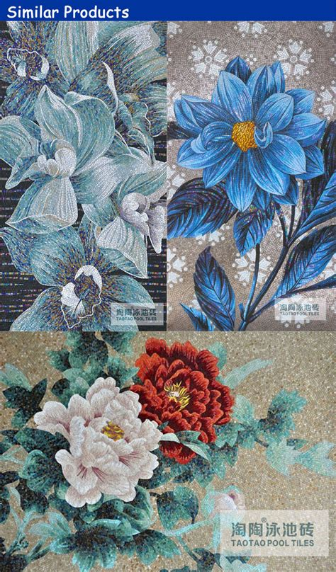 decorative beautiful  design long art mosaic flower