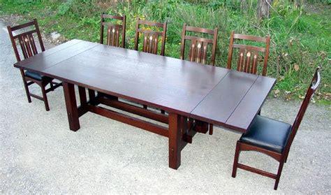 Harvey Ellis Dining Table Voorhees Craftsman Mission Oak Furniture Gustav Stickley Harvey Ellis Inspired Custom