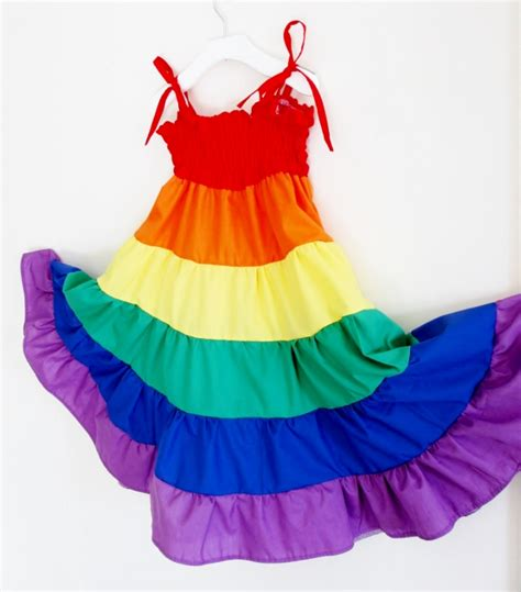 Dress Rainbow 1 rainbow dress rainbow twirl dress dress
