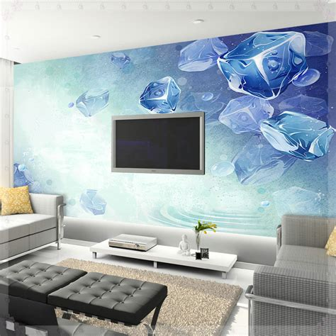 Cool Bedroom Wallpaper | summer cool wallpaper sofa tv mural bedroom wallpaper 3d